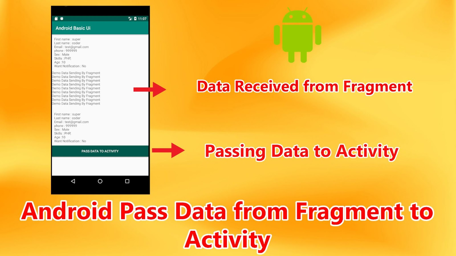 Android Pass Data from Fragment to ActivityAndroid Pass Data from Fragment to Activity
