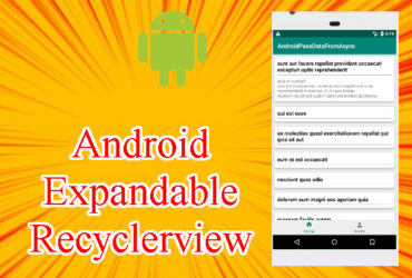 Expandable Recyclerview Android (Android Recyclerview Accordin)