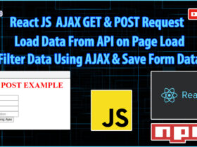 React JS Tutorial Part 5   AJAX GET & POST Request Example   Search Example Using AJAX   Form Submit