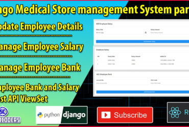 Django React Medical Store Management Part 26 | Update Employee | Manage Employee Bank and Salary