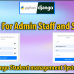 Python Django Student Management System Part 29 | Signup For Admin Staff and Students