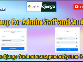 Python Django Student Management System Part 29   Signup For Admin Staff and Students