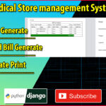 Django React Medical Store Management Part 29 | Complete Bill Save | Generate and Print Tutorial