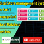 Django React Medical Store Management Part 31   Homepage Part 1   Added Homepage Cards