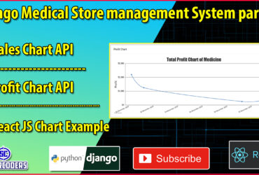 Django React Medical Store Management Part 33 | Added Charts in Home Page | React JS Charts Tutorial